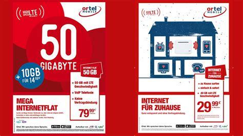 lte router mit prepaid sim und  gb internet flat ortel