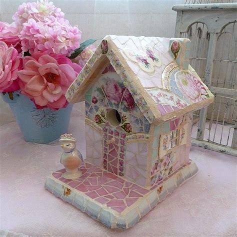 shabby chic bird houses shabby chic birdhouse altered birdhouse shabby chic pinterest shabby chic shabby and