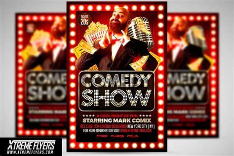 comedy show flyer template flyer templates creative market
