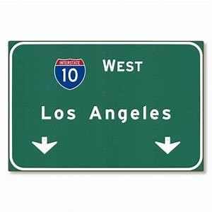 I-10 Interstate Los Angeles California ca Metal Highway