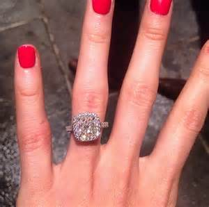 5 carat engagement ring katherine webb s platinum 5 carat cushion cut ring