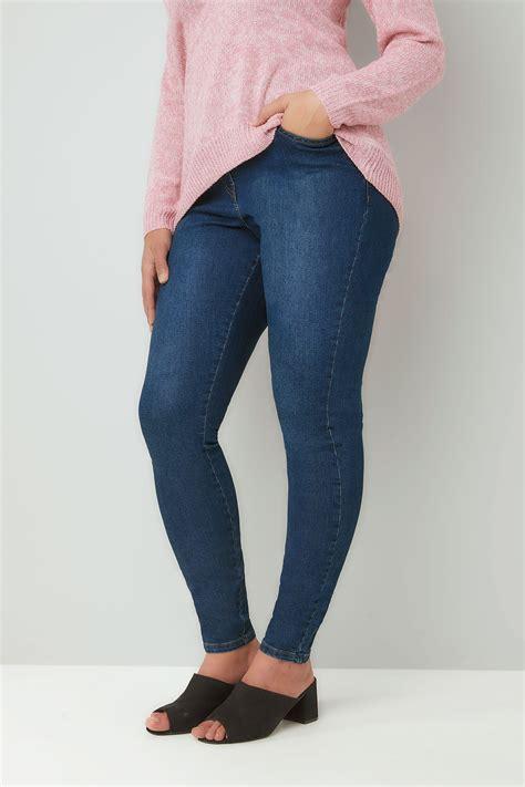 Jean Moulant Bleu Delave Poches Grandes Tailles