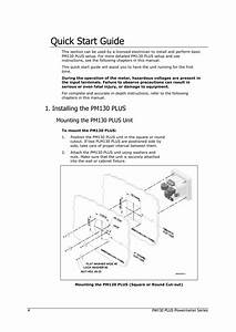 Quick Start Guide  Installing The Pm130 Plus  Mounting The