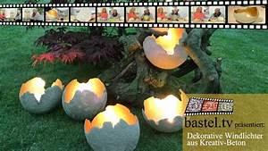 Windlicht Beton Luftballon : windlichter mit kreativ beton selbermachen beton kreativ und windlicht ~ Watch28wear.com Haus und Dekorationen