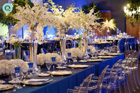 Wedding With White, Gold And Blue Details Grace Ormonde