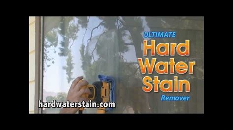 remove hard water stains  glass  step  step