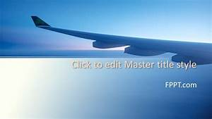 Free Airplane Wing Powerpoint Template