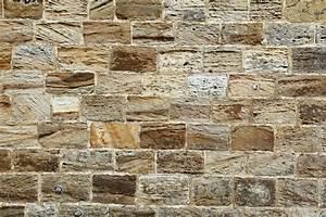 Sandstone Brick Wall Free Stock Photo