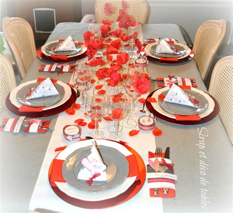 deco de table valentin 2015 scrap et d 233 co de tables