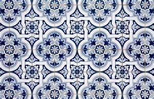 interior colour of home blue pattern detail of portuguese glazed ceramic tiles