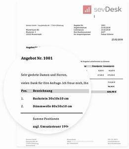 Unbestellte Ware Erhalten Ohne Rechnung : muster und vorlagen f r angebote mit anleitung kostenlos ~ Themetempest.com Abrechnung