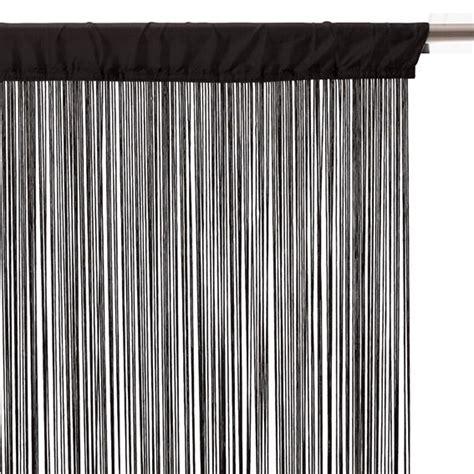 rideau a fil rideau de fil 90 x h200 cm uni noir rideau et voilage eminza