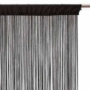 Rideau Fil Noir : rideaux fils pas chers rideau fils sur enperdresonlapin ~ Teatrodelosmanantiales.com Idées de Décoration
