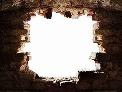 Hole Broken Brick Stone Cracked Ground Transparent