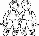 Coloring Desenhos Printable Colorear Colorir Gemelos Meninos Colorat Dibujos Planse Twins Twin Boys Terraria Dibujo Kinder Friends Amigo Baieti Imprimir sketch template