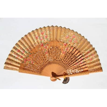 hand fan in spanish spanish hand fan with certificate painted and handmade