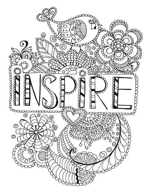 Kleurplaat Mandala Mexico by Inspire Words Coloring Page Words Coloring Pages For