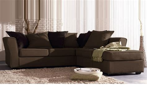 canape angle marron canapé d 39 angle tissu quot lilia quot 5 places cana chocolat 24654