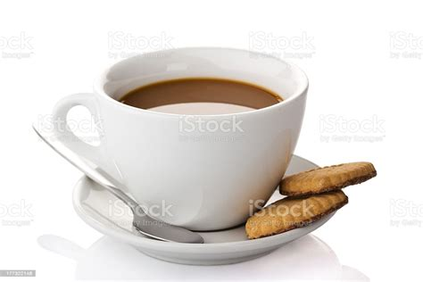 These cookies are necessary for the website to function and cannot be switched off in our systems. Cup Of Coffee With Cookies Isolated On A White Background Stock Photo & More Pictures of Black ...
