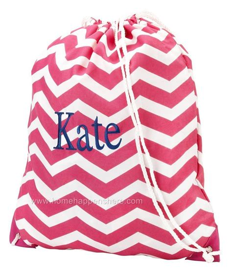 personalized  drawstring backpack sports cinch sac gym