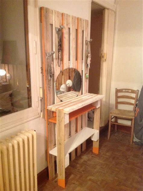 diy recycled pallets dressing table pallets designs