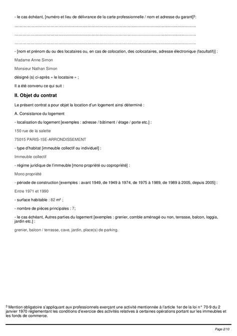 bail chambre meubl馥 chez l habitant bail de location meuble pdf kit location meubl non saisonni re bail meubl dur e immobilier en image contrat de location meubl resume cover