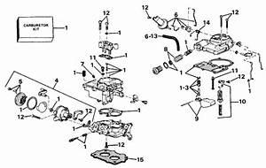 Omc Stern Drive Carburetor Parts For 1988 2 3l 232amrgdp