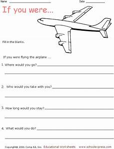 U0026quot If You Were Flying The Airplane    U0026quot  Writing Activity