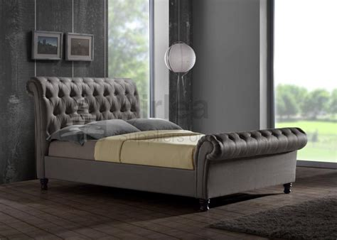 3162 grey upholstered king bed birlea grey upholstered fabric bed frame in