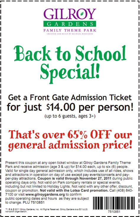 gilroy gardens 14 ticket printable coupon