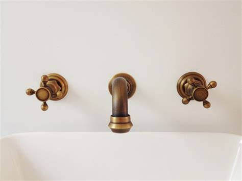 Vintage Wall Mount Faucet by Farmhouse Update Part Four Three Wooden Spoons