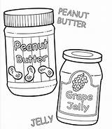 Peanut Butter Coloring Jelly Pages Template Drawing Panut Clipartbest Getdrawings Sketch Templates sketch template