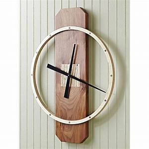 Big time wall clock woodworking plan from wood magazine for Wood wall clock plans