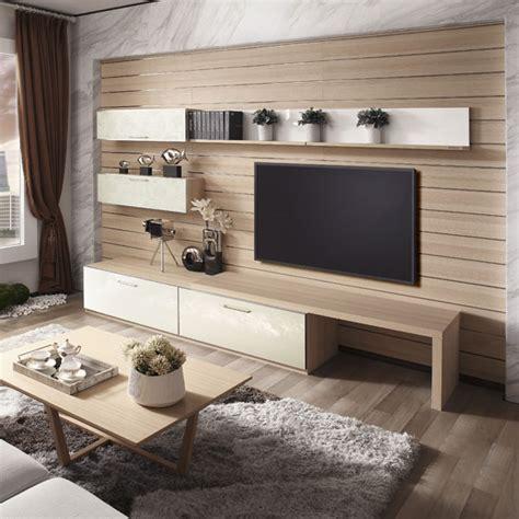 design living room modern corner wooden tv