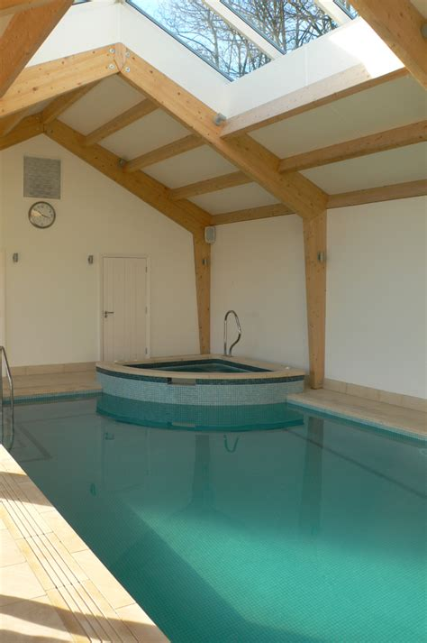 swimming pool indoor oak framed building  chipping