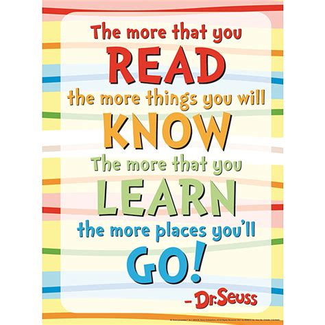 Read Poster Template by Dr Seuss Poem Poster Demco