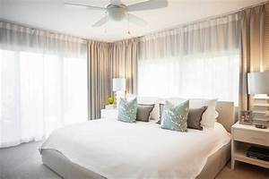 photo page hgtv With sheer white curtains in bedroom