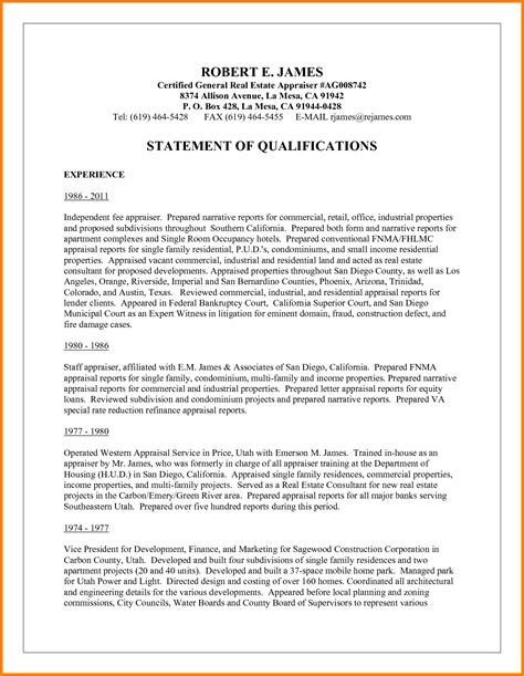 statement of qualifications template 3 statement of qualifications format statement 2017