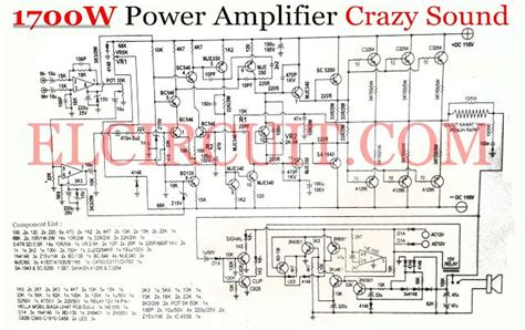 Crazy Sound Power Amplifier Circuit Audio
