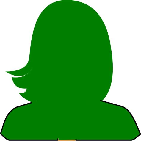 free woman1 green silhouette clip at clker vector clip