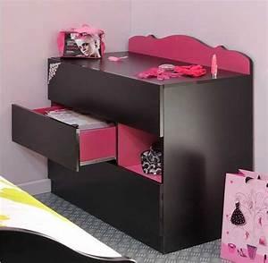 Commode girly secret de chambre for Tapis chambre ado avec matelas heveane dunlopillo avis