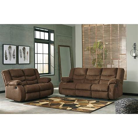 Craigslist Used Living Room Sets by Rent To Own Tulen Chocolate Reclining Sofa And Loveseat