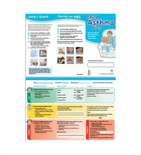 Asthma Care Plan Template 9 Asthma Plan Template Doc Excel Pdf Free