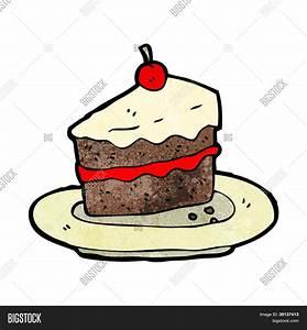 Vector y foto Torta De Dibujos Animados Bigstock