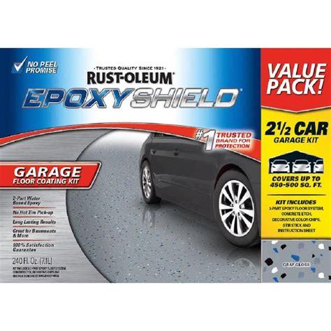 epoxyshield garage floor coating kit upc 020066322885 240 oz gray high gloss 2 5 car garage