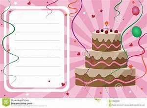 Carte Anniversaire Fille 9 Ans : carte d 39 invitation d 39 anniversaire fille photos libres de droits image 13098328 ~ Melissatoandfro.com Idées de Décoration