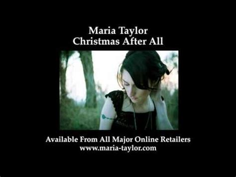Maria Taylor - Christmas After All - YouTube