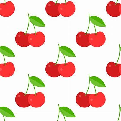 Paper Wrapping Pattern Cherry Gift Seamless Vector