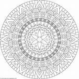 Coloring Mandala Getcoloringpages sketch template