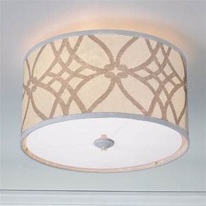 Trellis linen drum shade ceiling light colors lamp